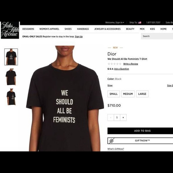 5a9be5013 Dior Tops | We Should All Be Feminists Tshirt | Poshmark